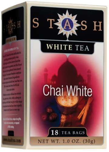 Chai White Tea - Stash Premium Chai White Tea, Tea Bags, 18-Count Boxes (Pack of 6)