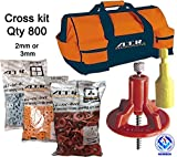 ATR Tile Leveling Alignment System Pro Kit 2mm Cross Walls & Floors Spacers Incloude ATR Tool Bag (Pro 800)