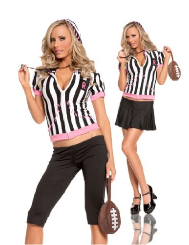 Sideline Sweetheart Referee Teen Costume By Elegant Moments - (Woman Referee Costumes)