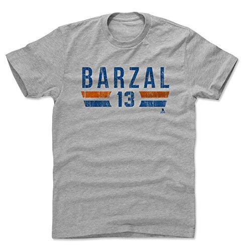 500 LEVEL Mathew Barzal Cotton Shirt Medium Heather Gray - New York Islanders Men's Apparel - Mathew Barzal New York I Font B