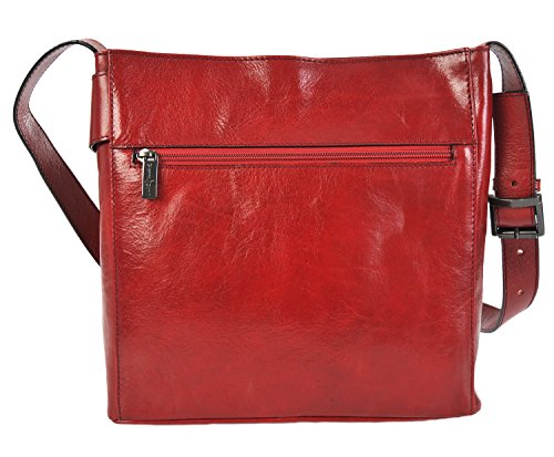 Hobo Italian Large 9403444 Shoulder Leather Conti Dark Red Handbag Fine Gianni q64XtX
