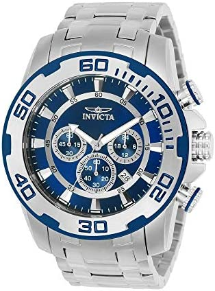 Invicta Men s Pro Diver Quartz Watch with Stainless-Steel Strap, Silver, 26 Model 22319