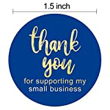 "1.5"" Thank You for Supporting My Small Business"