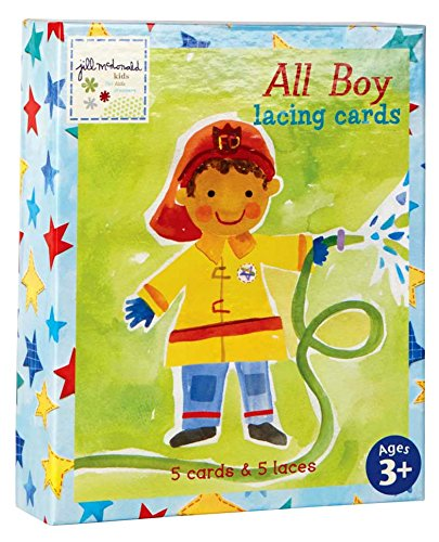 C.R. Gibson 'All Boy' Lacing Cards Activity for Boys,