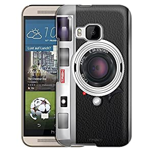HTC One M9 Trans Case, Slim Snap On Cover Retro Vintage Cases
