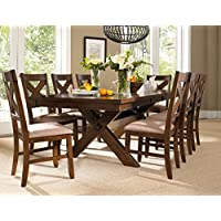 Powell 713-417M3 9 Piece Wooden Kraven Dining Set