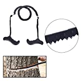 Pocket Chainsaw Chain Folding Hand Saw Tool for Survival Gear Camping Hiking Hunting Tree Cutting Gardening Outdoor Emergency Kit. Replaces Your Pruning & Pole Saw, 20.5 Inch Long