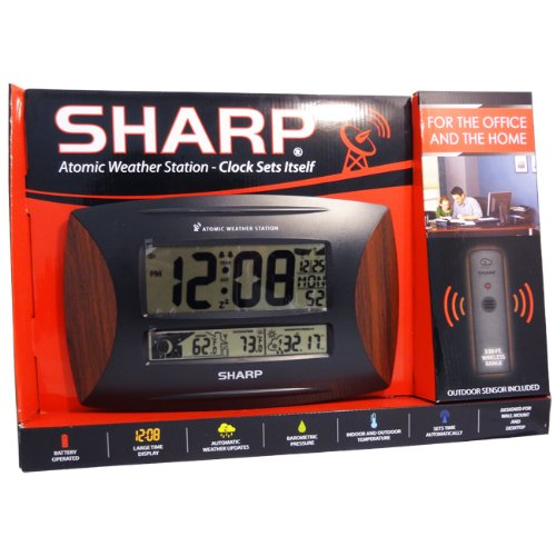 Price comparison product image Sharp 79051-1 Atomic Weather Station With Wood Accent