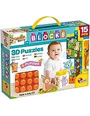 Lisciani Carotina baby blokken puzzel 3D de boerderij - 15 stuks - 79957