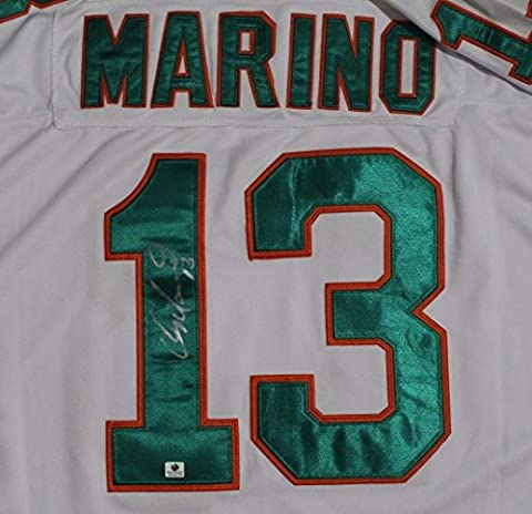 DAN MARINO #13 HOF Miami Dolphins Autographed M&N Throwback Jersey Signed COA - Miami Dolphins Throwback Jersey