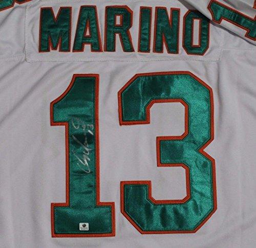 13 Dan Marino Jersey (DAN MARINO #13 HOF Miami Dolphins Autographed M&N Throwback Jersey Signed COA)