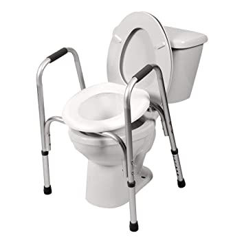 Toilet Frame With Seat.Pcp Raised Toilet Seat And Safety Frame Two In One Adjustable Rise Height Secure Elevated Lift Over Bowl Made In Usa