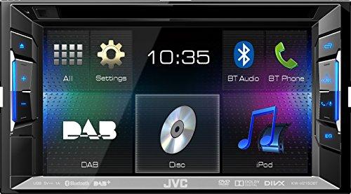 JVC KW-V215DBTE Multimedia-Receiver (DVD, CD, USB, DAB+, Bluetooth) schwarz