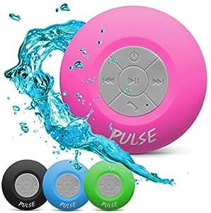 CSJ  Pulse Wireless Waterproof Bluetooth 4.0 Shower Speaker - Pink