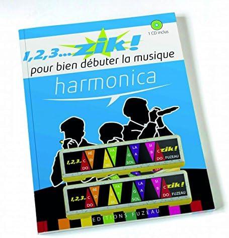 1 2 3 zik pack harmonica: Editions Fuzeau: Amazon.es: Instrumentos musicales