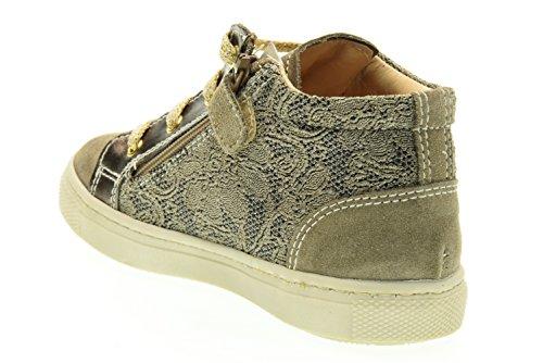 NEGRO JARDINES altas zapatillas de deporte júnior A621663F / 501 (23/26) Beige