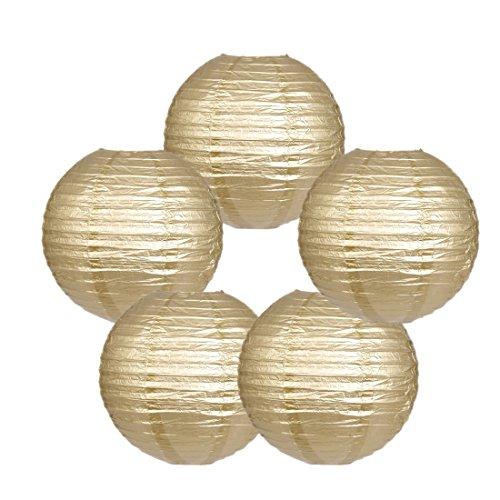 Zilue-Round-Paper-Lanterns-Decoration-Wedding-Party-Birthday-Accessories-Pack-of-5-Gold-12