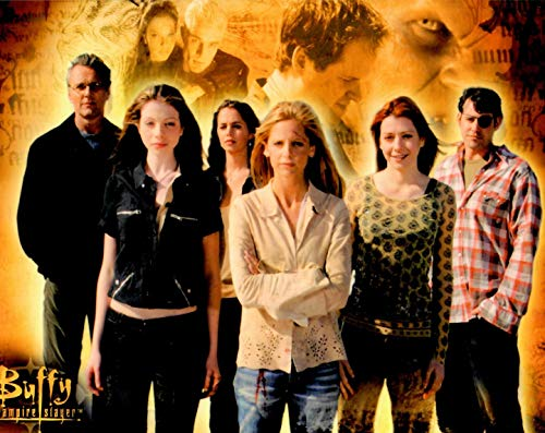 Buffy the Vampire Slayer cast standing together against memorable moments 8 x 10 Inch Photo LTD 10