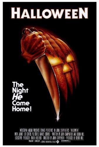 Blueline Halloween Movie Poster 27 x 40 Donald Pleasence, Jamie Lee Curtis, A, Made in The U.S.A.