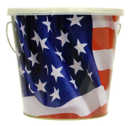 TIKI Brand USA American Flag Citronella Candle Bucket (1) - 16oz