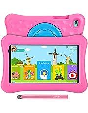 8 inch Kids Tablets, Anti-blauw licht Eye Protection, Android 11 Go Quad Core, 2 GB RAM 32 GB Rom, Ouderlijk toezicht, iWawa vooraf geïnstalleerd met Kids-Proof case en Stylus Pen, Dual Camera, AWOW Tablet PC voor kinderen(Roze)