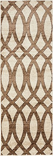 Modern Vintage Inspired Area Rugs Brown 2' x 6' FT Himalaya Collection Rug - rugs for living room - rugs for dining room & bedroom - Floor Carpet