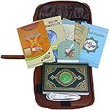 Hitopin Muslim Quran Pen Digital Quran Pen Reader , 30Languages 30Reciters, Bukhari, Muslim, Noorani, Talking Dictionary, Hisnulmuslim Word by Word Free Downloading Voices 8GB Leather Bag