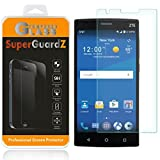 [2-Pack] For ZTE Zmax 2 - SuperGuardZ Tempered Glass Screen Protector, 9H, 0.3mm, 2.5D Round Edge, Anti-Scratch, Anti-Bubble