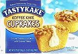 Tastykake Creme Filled Koffee Kake Cupcakes Family Pack/12 Crumb Topped Cupcakes Per Box/A Good Breakfast (4-Boxes)