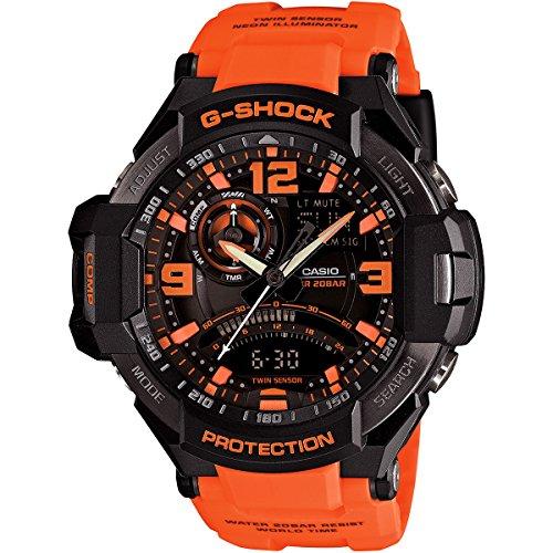 (Casio G-Shock GA-1000 Gravity Defier - Black Orange (GA-1000-4ADR))