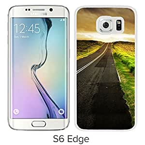 New Beautiful Custom Designed Cover Case For Samsung Galaxy S6 Edge With Road To The Sea (2) Phone Case
