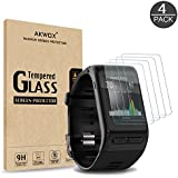 (Pack of 4) Tempered Glass Screen Protector for Garmin Vivoactive HR, Akwox [0.3mm 2.5D High Definition 9H] Premium Clear Screen Protective Film for Garmin Vivoactive HR