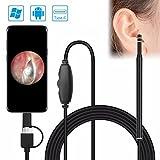 Endoscopio de 5.5 mm con cámara para Android USB, herramienta de verificación de salud del oído