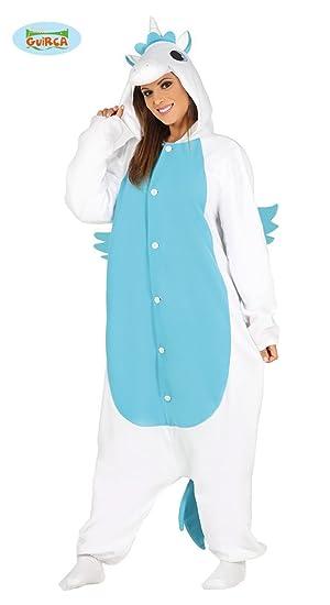 Guirca 88178 - Pijama Unicornio Azul Adulta Talla L 42-44