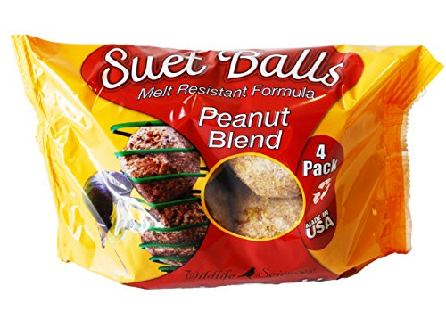 Peanut Blend (Peanut Blend Suet Balls 4 Pack, Case of 6)
