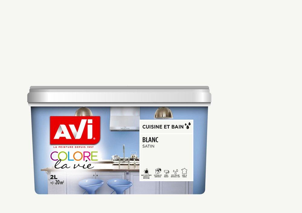 Peinture Cuisine & Bain, Avi Colore la Vie - Orange Sanguine Satin, 0,5L PPG 369781