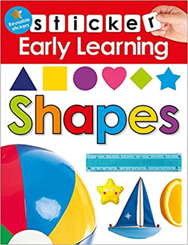 amazon com sticker early learning shapes 9780312520151 roger