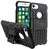 Apple iPhone 7 Rugged Stand Back Case Cover  By DMG