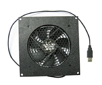 Amazon.com: Coolerguys 120mm USB Fan with Cabinet Mounting Bracket ...