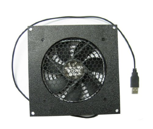 Coolerguys 120mm USB Fan with Cabinet Mounting Bracket (Usb Cabinet Cooling Fan)