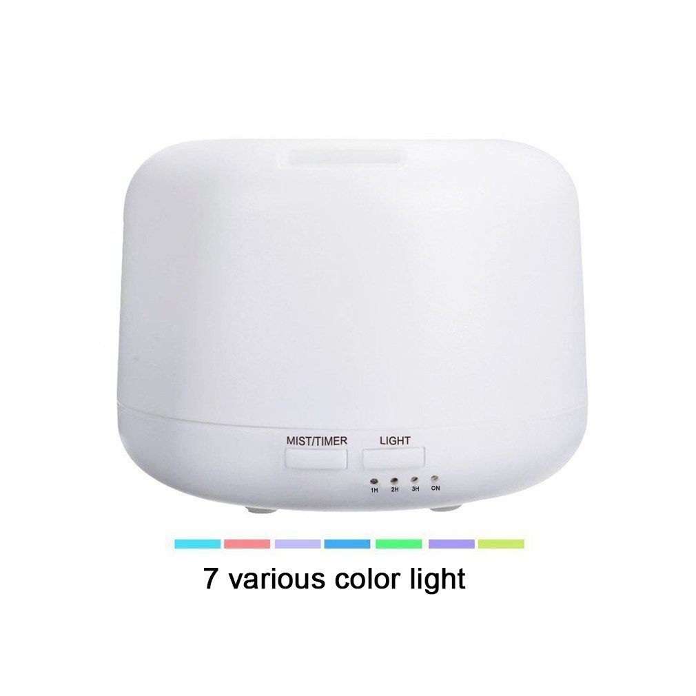Micro Oil Diffuser Cool Mist Humidifier, House Room Mini Air Humidifiers for Baby Bedroom - Various Night Lights (White)