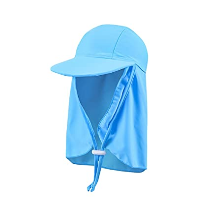 Saftybay Sun Protection Hat - Children s Beach Sun Hat Neck Cap Beach Play  UV visor Cape 1bcdca092302