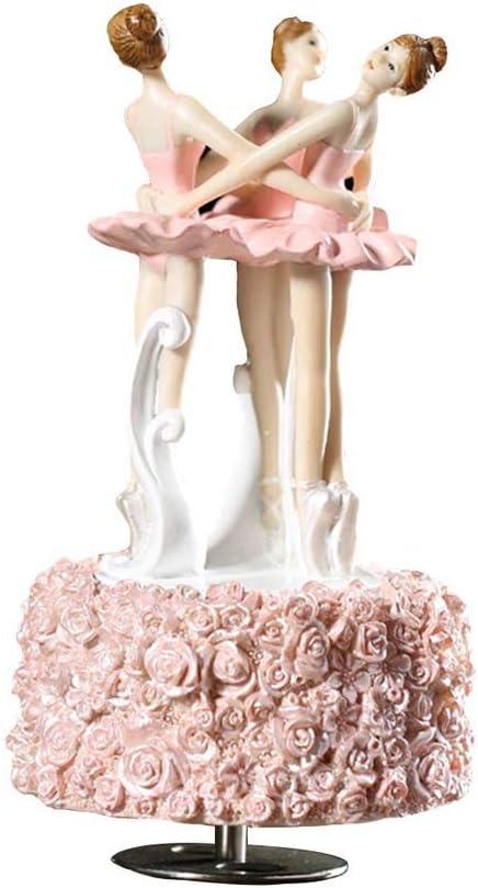 CWC La muchacha del ballet giratoria de la caja de música caja de música musical del juguete de regalo de San Valentín Día del equipamiento casero de las decoraciones mejores regalos for papá con la h