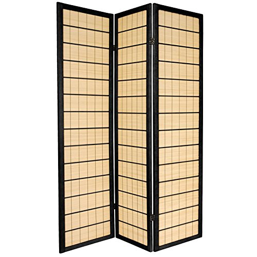 Oriental Furniture 6 ft. Tall Kimura Shoji Screen - 3 Panel - Black by ORIENTAL FURNITURE