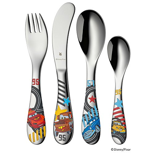 WMF Disney Cars Child Cutlery Set, Stainless Steel, 21.5 x 15.5 x 21.5 cm