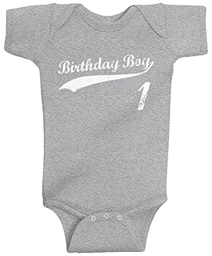 Threadrock Baby Boys' Birthday Boy 1 Year Old Infant Bodysuit 18 Months...