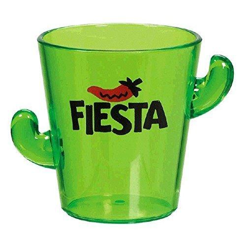 Amscan Cinco De Mayo Fiesta Party Cactus Shot Glass Tableware, 1.7 oz, Green (6 Pack) ()