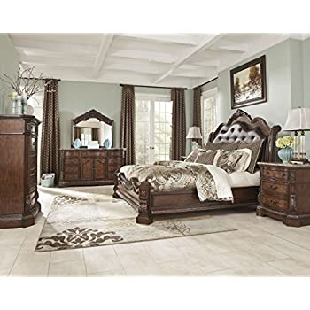 Ashley Ledelle B705 4 Pc King Panel Bedroom Set   In Home White Glove  Delivery Included