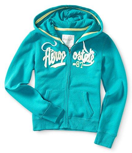Aeropostale Womens Aero 87 Full Zip Hoodie Sweatshirt 168 L