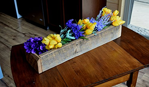 Reclaimed Wooden Centerpiece Planter Box by Sugar Mtn Woodworks   Barnwood Home Decor, Dining Table Accessory, Kitchen (Wood Planter Boxes)